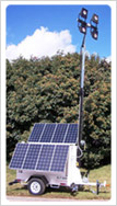 Portable Solar LED Light Towers - click to read more about our Mobile Light Towers